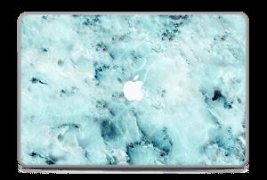 """Blå iset marmor Skin MacBook Pro 17"""" -2015"""
