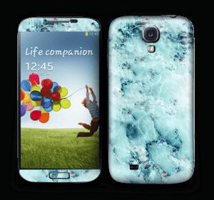 Blå iset marmor Skin Galaxy S4