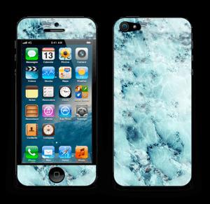 Blå iset marmor Skin IPhone 5