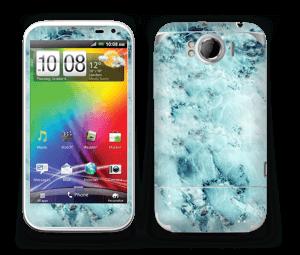 Blå iset marmor Skin Sensation XL