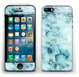 Blå iset marmor Skin IPhone 5s