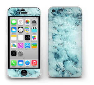Blå iset marmor Skin IPhone 5c