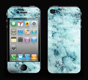 Blå iset marmor Skin IPhone 4/4s