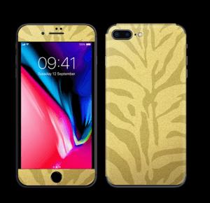Zèbre doré Skin IPhone 8 Plus