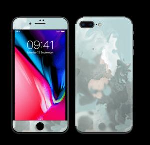 Turkise og blågrønne farger Skin IPhone 8 Plus