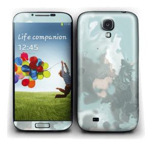 Pastel azul Skin Galaxy S4