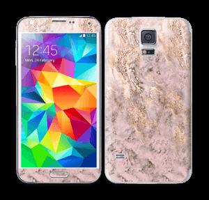 Rosa og gullmarmor Skin Galaxy S5