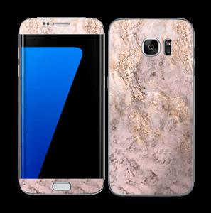 Rosa e dourado Skin Galaxy S7 Edge