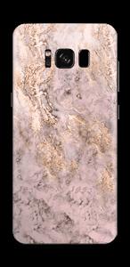Rosa og gullmarmor Skin Galaxy S8