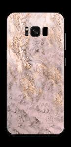 Rosa og gullmarmor Skin Galaxy S8 Plus