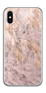 Rosa og gullmarmor Skin IPhone XS
