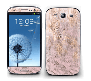 Rosa og gullmarmor Skin Galaxy S3