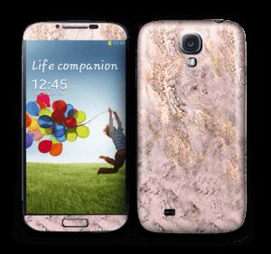Rosa og gullmarmor Skin Galaxy S4