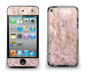 Rosa og gullmarmor Skin IPod Touch 4th Gen