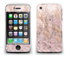 Rosa og gullmarmor Skin IPhone 3G/3GS