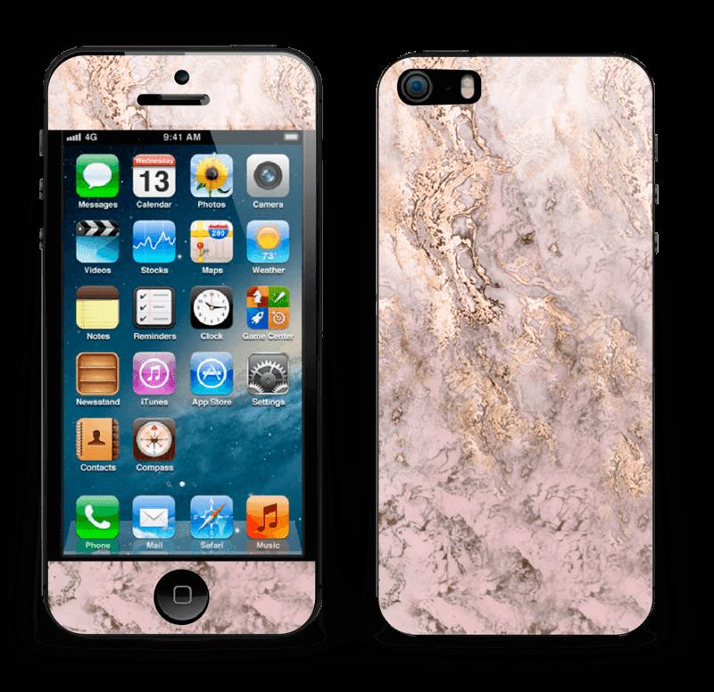 Rosa og gullmarmor Skin IPhone 5s