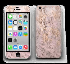 Rosa og gullmarmor Skin IPhone 5c