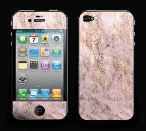 Rosa og gullmarmor Skin IPhone 4/4s