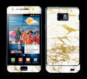 Hvitt og gull Skin Galaxy S2