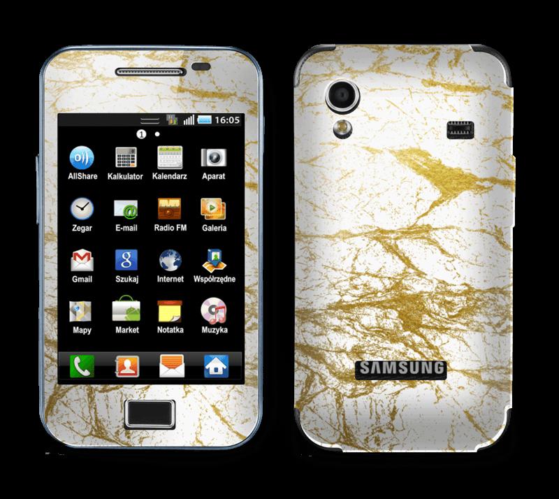 Hvitt og gull Skin Galaxy Ace