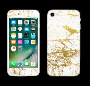 Blanco y oro Vinilos  IPhone 7
