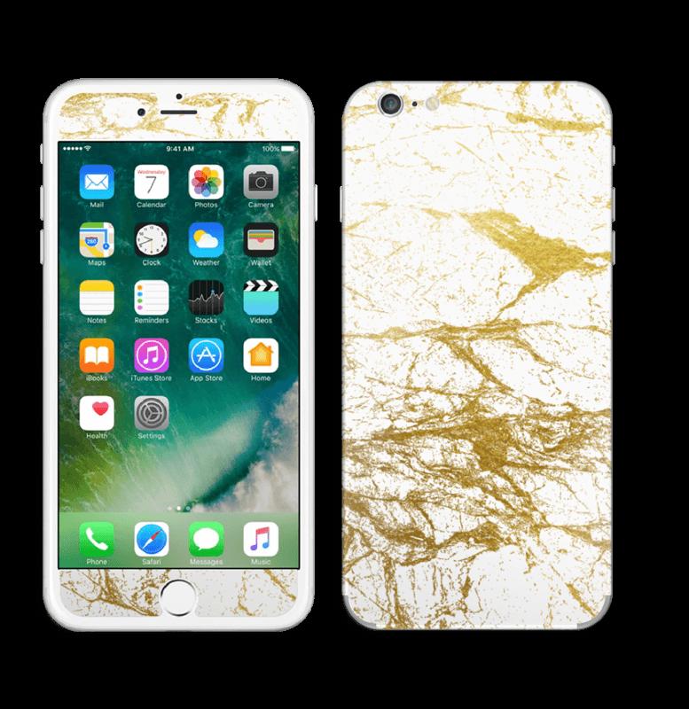 Hvitt og gull Skin IPhone 6 Plus