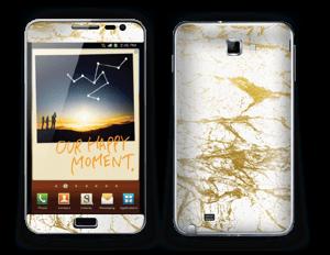 Hvitt og gull Skin Galaxy Note