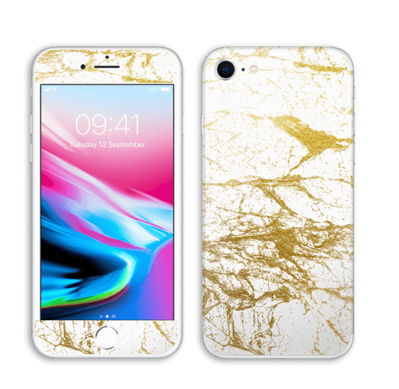 Hvitt og gull Skin IPhone 8