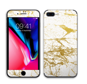 Hvitt og gull Skin IPhone 8 Plus