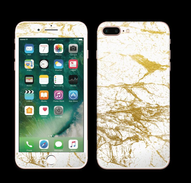 Hvitt og gull Skin IPhone 7 Plus