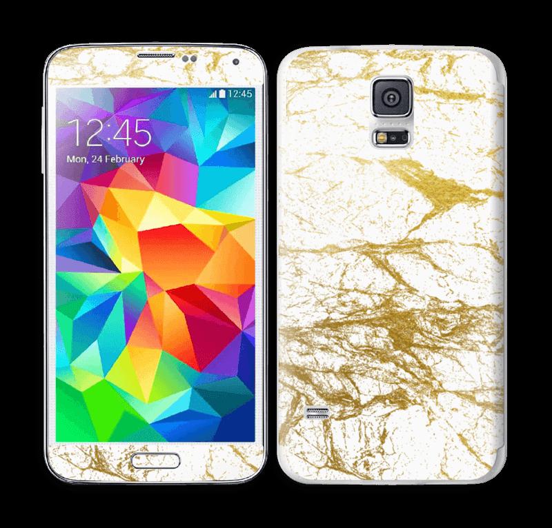 Hvitt og gull Skin Galaxy S5