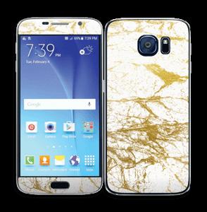Blanc et or Skin Galaxy S6