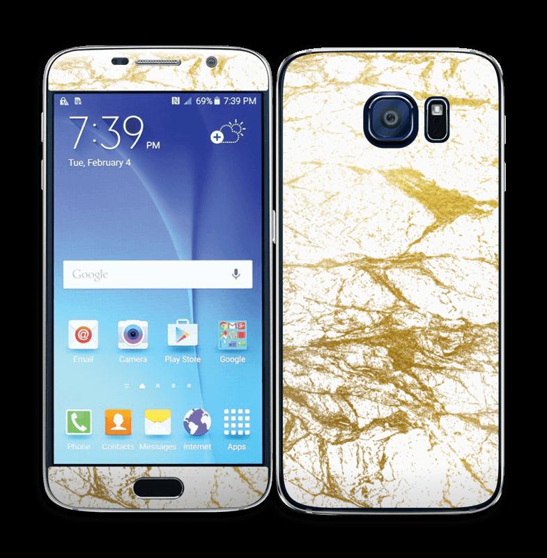 Hvitt og gull Skin Galaxy S6