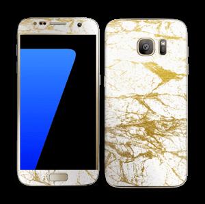 Hvitt og gull Skin Galaxy S7