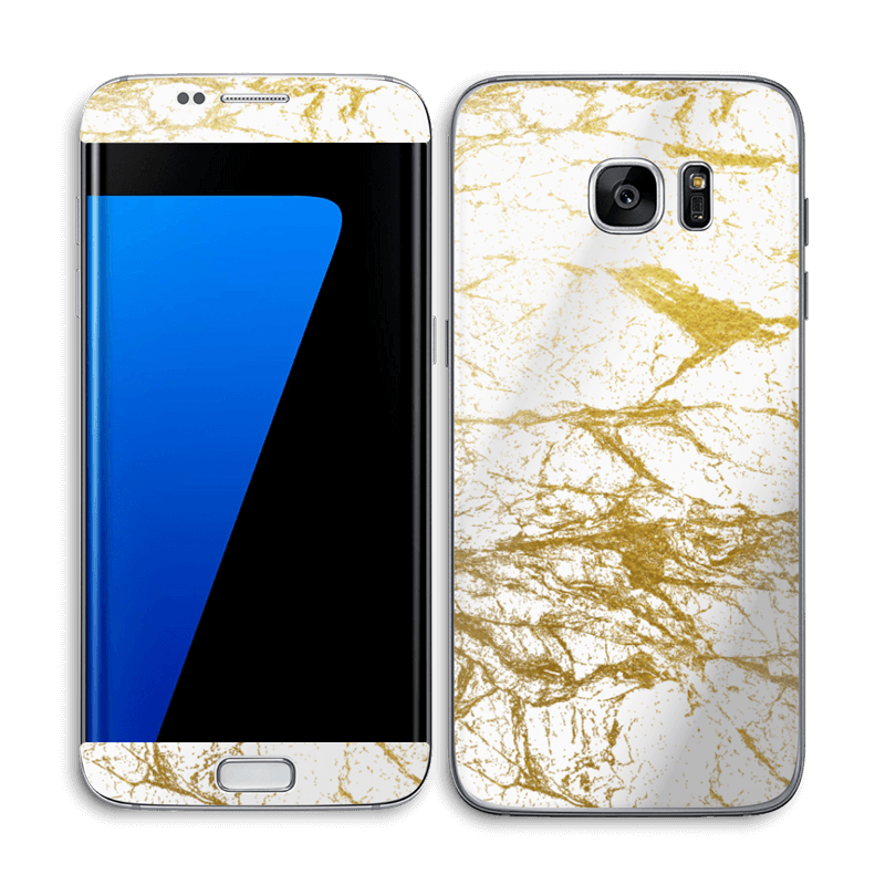 Hvitt og gull Skin Galaxy S7 Edge