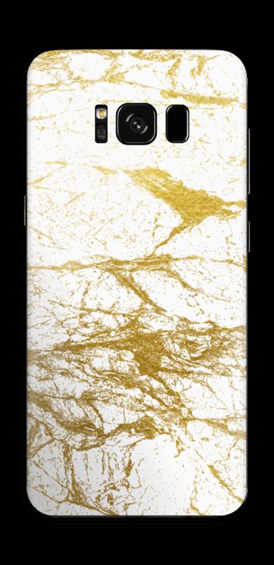 Hvitt og gull Skin Galaxy S8