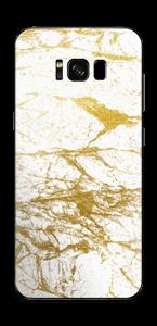 Hvitt og gull Skin Galaxy S8 Plus