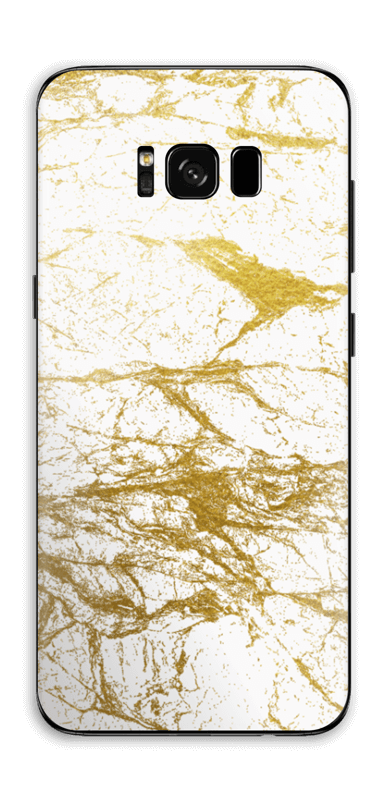 Hvitt og gull Skin Galaxy S8 Plus