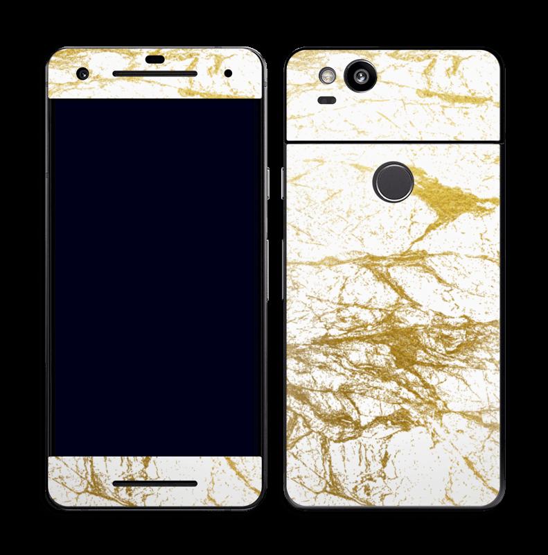 Hvitt og gull Skin Pixel 2