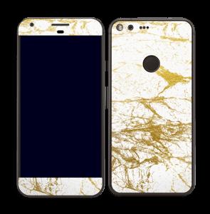 Hvitt og gull Skin Pixel XL