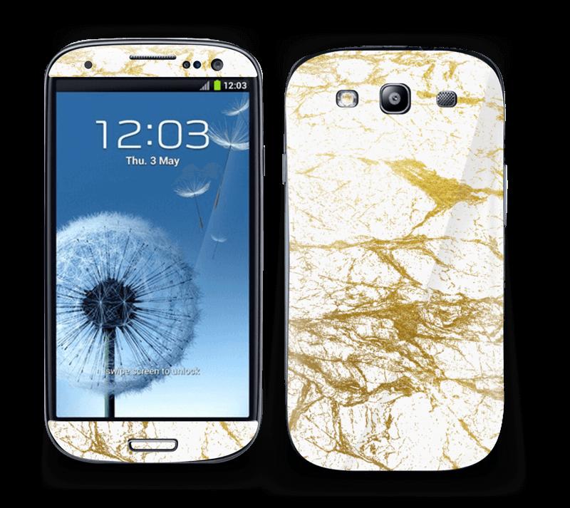 Hvitt og gull Skin Galaxy S3