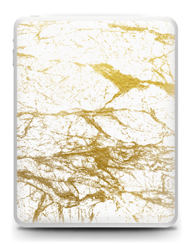 Hvitt og gull Skin IPad 1