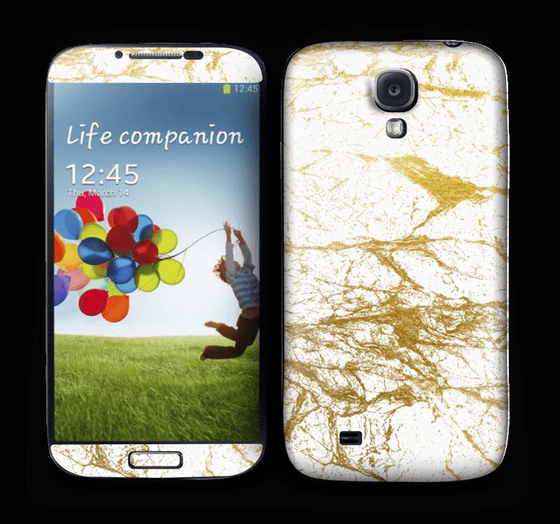Hvitt og gull Skin Galaxy S4