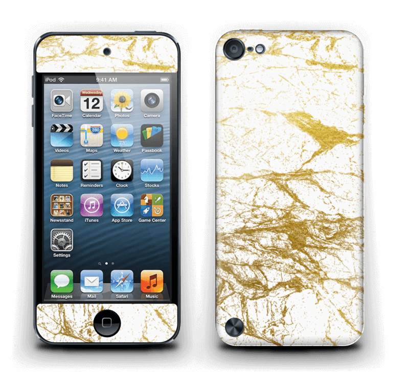 Hvitt og gull Skin IPod Touch 5th Gen