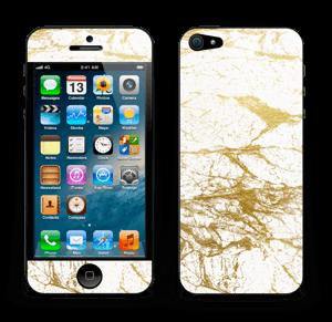 Hvitt og gull Skin IPhone 5