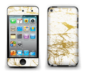 Hvitt og gull Skin IPod Touch 4th Gen