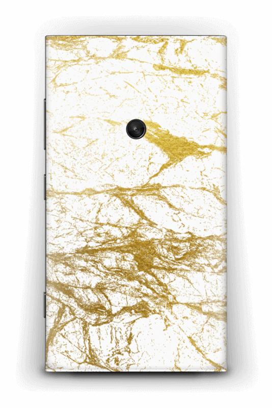 Hvitt og gull Skin Nokia Lumia 920