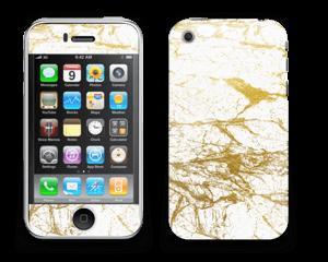 Hvitt og gull Skin IPhone 3G/3GS