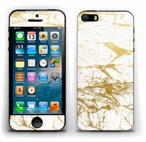 Hvitt og gull Skin IPhone 5s