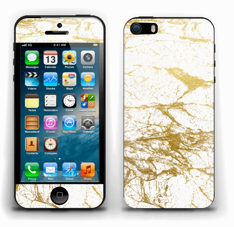 Hvitt og gull Skin IPhone 5s